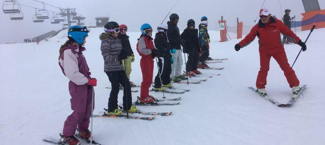 Séjour ski: premier jour à la Plagne