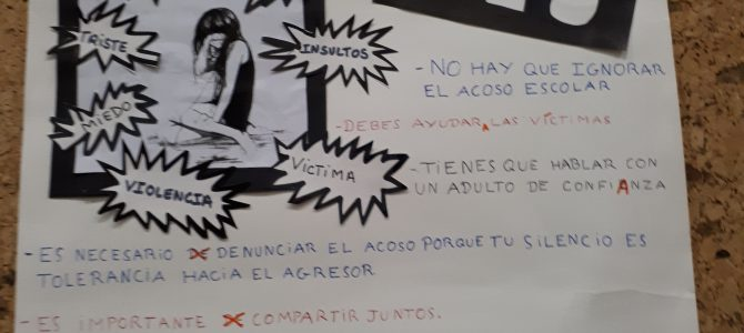 ¡ NO ! al acoso escolar ..